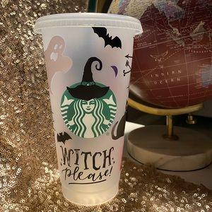 Halloween custom Starbucks Cup